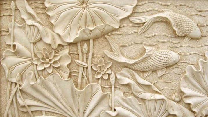 điêu khắc thạch cao hoa sen